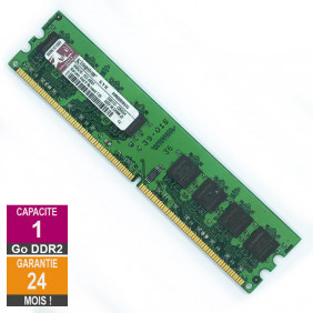 Barrette Mémoire 1Go RAM DDR2 Kingston KVR800D2N5/1G DIMM PC2-6400U 2Rx8