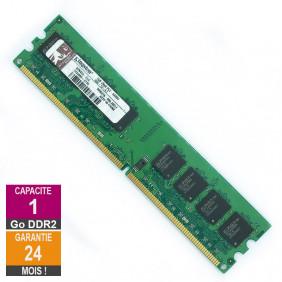 Barrette Mémoire 1Go RAM DDR2 Kingston KPN424-ELG DIMM PC2-5300U 2Rx8
