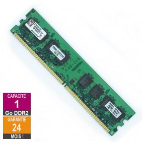 Barrette Mémoire 1Go RAM DDR2 Kingston KTM4982/1G DIMM PC2-5300U 2Rx8