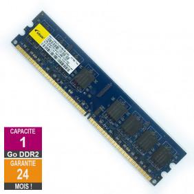Barrette Mémoire 1Go RAM DDR2 Elixir M2Y1G64TU8HB4B-25C DIMM PC2-6400U 2Rx8