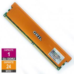 Barrette Mémoire 1Go RAM DDR2 Geil GX22GB6400DC DIMM PC2-6400U 2Rx8