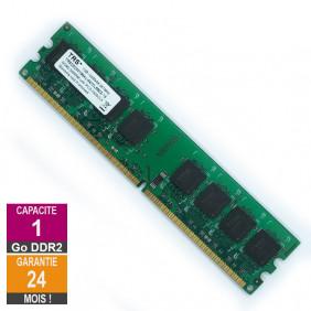 Barrette Mémoire 1Go RAM DDR2 Trs TRSDD2001G64U-667CL5BZX-16 DIMM PC2-5300U 2Rx8