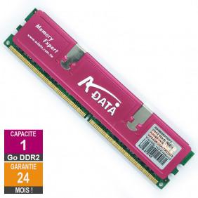 Barrette Mémoire 1Go RAM DDR2 Adata ADQVE1A16 DIMM PC2-6400U 2Rx8