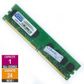 Barrette Mémoire 1Go RAM DDR2 GoodRam GR667D264L5/1G DIMM PC2-5300U 2Rx8