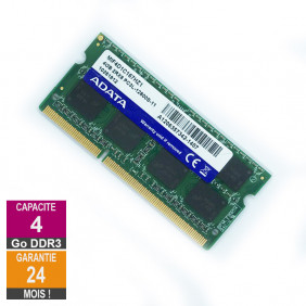 Barrette Mémoire 4Go RAM DDR3 Adata MIF4D1C167HZ1 SO-DIMM PC3L-12800U 2Rx8