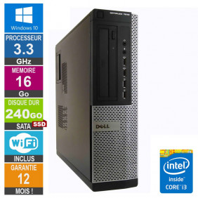 PC Dell 7010 DT Core i3-3220 3.30GHz 16Go/240Go SSD Wifi W10