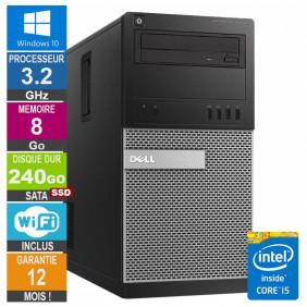 PC Dell Tour Optiplex 9020 i5-4570 3.20GHz 8Go/240Go SSD Wifi W10