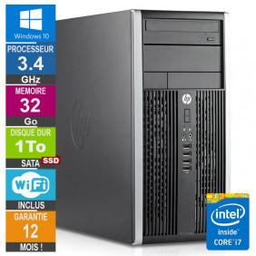 PC HP Pro 6300 MT Core i7-3770 3.40GHz 32Go/1To SSD Wifi W10