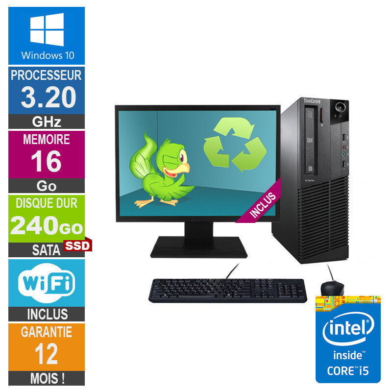 PC Lenovo M92p Core i5-3470 3.20GHz...
